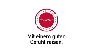Tourcert Siegel und Slogan