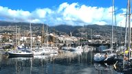 Angelegte Boote im Hafen von Funchal