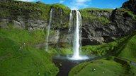 Der Seljalandsfoss - Wasserfall im Süden Islands