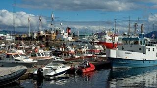 Boote und Schiffe im Hafen von Reykjavik