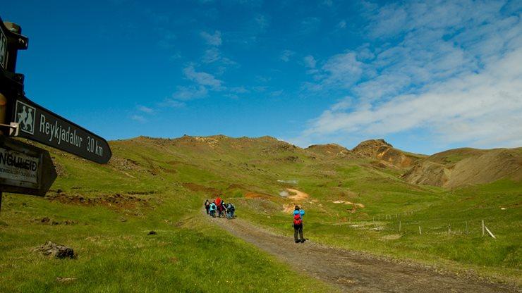 Wandergruppe auf Island